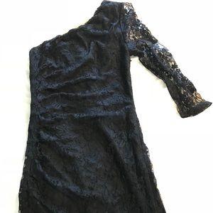 Black lace one shoulder Express dress